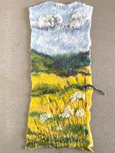 #Textileartist Lynn Comley of UpandDownDale Entirely wet felted with free motion machine embroidery and a little hand stitching.  Follow Lynn on Instagram: UpandDownDale Mixed Media Artwork, Mixed Media Artists, My Roots, Textile Artists, Hand Stitching, Felting, Machine Embroidery, Textiles, Free