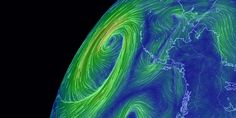 See current wind, weather, ocean, and pollution conditions, as forecast by supercomputers, on an interactive animated map. Updated every three hours.