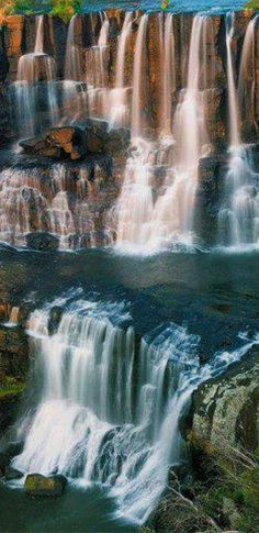 Ebor Falls on the Guy Fawkes River in New South Wales, Australia