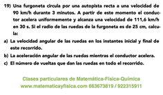 Ejercicio: movimiento circular uniformemente acelerado