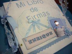 Libros de firmas personalizados en LAS COSITAS DE YOLA http://lascositasdeyola.blogspot.com/