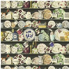 Sanderson Wallpaper Emma Bridgewater The Dresser Collection 213650