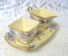 Vintage Art Deco Royal Winton Hand Painted by TheWhistlingMan