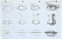 Augen, Mund und Nase zeichnen lernen. Schauen Sie diese Anleitung an. Die ist sehr nützlich für Anfänger. (How To Paint)