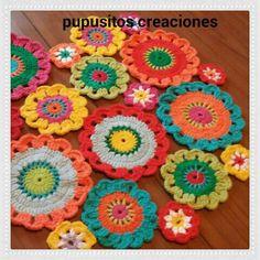 Carpeta flores crochet