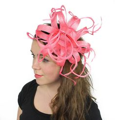 c9dc727634a99 Coral Kremena Fascinator Hat for Weddings Occasions and Fascinator Hats