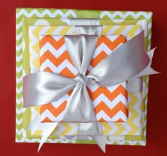 Aqua Chevron Premium Wrapping Paper