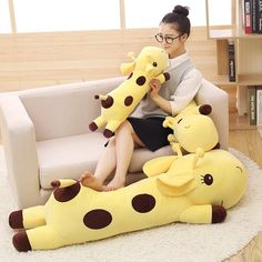 Giraffe Pillow New Lovely Plush Toys Soft Stuffed Peluche Animals Toys Doll Birthday Christmas Gifts Model Plush Dolls