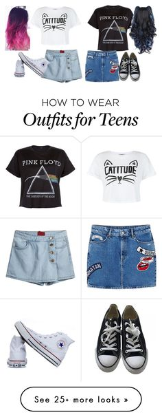 """""""Untitled #344"""" by jazzythekitten on Polyvore featuring New Look, MANGO and Converse"""