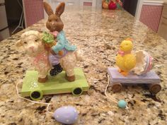Details About Lot Of Two Vintage Style Easter Decorations