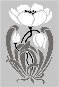 wisteria craftsman stencil - Google Search