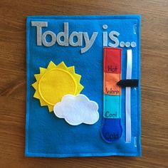 Weather Felt Book Page 2 pages Preschool Activity Learn the