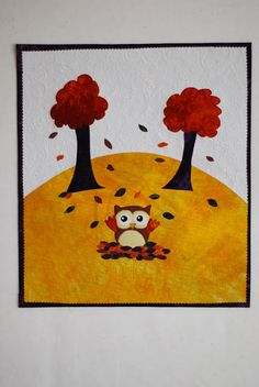 Happy Fall Owl mini quilt: FREE PATTERN!!
