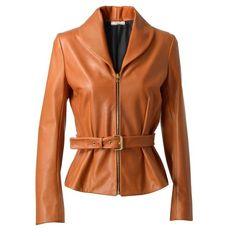 BOUCHRA JARRAR Tailored Leather Jacket ($3,540) ❤ liked on Polyvore