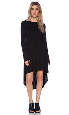 Michael Lauren Dolan Crew Neck Dress in Black