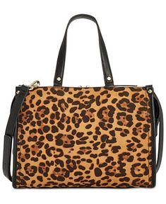 da70ad1285d ❤️Handbags Woman · INC International Concepts I.N.C. Remmey Leopard-Print  Satchel, Created for Macy s - Handbags  amp