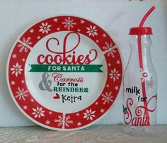 Handmade Christmas Gift Ideas For Everyone | Cookies For Santa Plate And Milk Bottle