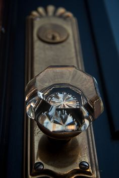 Beautiful glass door knob