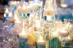 Glamorous Tiffany blue wedding at the Hotel Del Coronado: Reception details | San Diego Wedding Blog