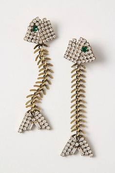 $198 Fishbone Earrings - Anthropologie.com    i had a pair of these a long time ago and sold them.