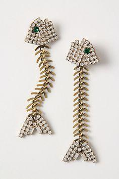 Fishbone Earrings #anthropologie