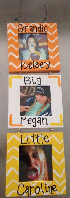 Grandie, big, and little picture frame for reveal