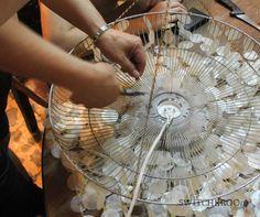 diy bedroom chandelier | DIY chandelier, capiz chandelier, chandelier makeover, switcheroom