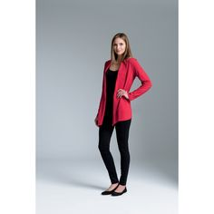 Our women's cardigan wrap is made from 100% soft Supima Cotton 5.60 oz/yd2. Supima yarn is exceptionally soft and luxurious and gives the garment a graceful drape. This fashionable garment features a shawl style collar and tagless neck label for comfort along with an asymmetrical front hem for a flattering appearance and double needle stitching for durability. The length extends to mid-hip. (Dark charcoal heather is 100% cotton due to heathered coloring).