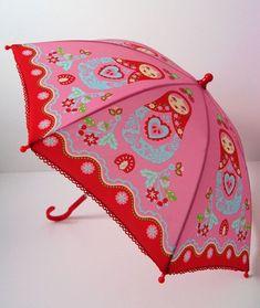 ade55812ff60 Matryoshka Doll, Wooden Dolls, Umbrellas Parasols, Russian Art, Pink  Umbrella,