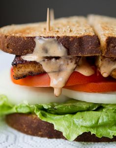 Tofu Chipotle Sandwich #vegan #lunch