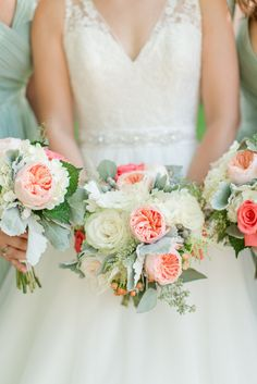 Beautiful Virginia Wedding with Amazing Green and Pink Color Palette. - Repinned by Beneva Flowers, Sarasota Florist