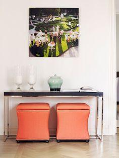 Friske farger og konsollbord Nightstand, House, Inspiration, Furniture, Home Decor, Biblical Inspiration, Bedside Desk, Home, Haus
