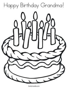 i love you grandma coloring page | pre-k | pinterest ... - Blank Birthday Cake Coloring Page