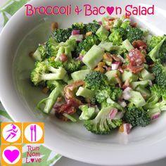 """dangerously addictive"" - completely keto & primal friendly broccoli & bacon salad."