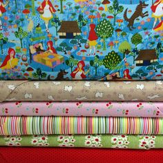 Fabric Friday - Little Red Riding Hood with Kei Fabric, Cosmo Textiles, Robert Kaufman, Alexander Henry and Trans Pacific Textiles
