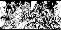X-Men Team Pin-Up by ChristopherStevens.deviantart.com on @deviantART