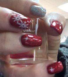Another Christmas Nails idea Chrismas Nail Art, Christmas Nails, Great Nails, Awesome, Pretty, Christmas Manicure, Xmas Nails