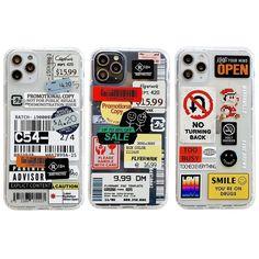 Fashion Retro Label Phone Cases For iPhone 11 12 Mini Pro XS Max X XR 7 8 Plus Soft TPU Cover 12 Pro 11 Pro 12 Mini