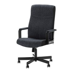 I sat in this the other day and it was really comfy. MALKOLM Swivel chair - fabric/black - IKEA $119