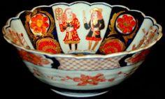 Nanban Imari Bowl 10''D x 4''H Fuki Choshun mark