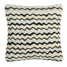 "One of my favorite discoveries at ChristmasTreeShops.com: 18"" Zigzag Square Throw Pillow"