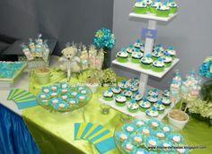 Mesas decoradas para baby shower varon - Imagui