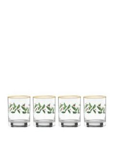 Lenox  Holiday Double Old Fashioned Glasses Set of 4