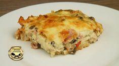 Πίτσα στο ταψί ή αλλιώς Σουφλέ! Lasagna, Food Inspiration, Quiche, Food And Drink, Pizza, Snacks, Breakfast, Ethnic Recipes, Foods