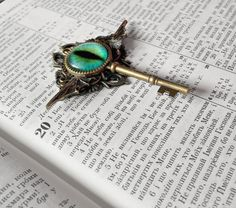 Dragon Key to the Mythical's Steampunk Necklace by TrollsMarket Dragon Eye, Key Necklace, Key Pendant, Steampunk Necklace, Very Lovely, Brass Chain, Turquoise Necklace, Gifts, Etsy