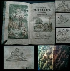 1774-German-Folk-Tales-in-Very-Old-Book-of-Collected-Poetry-with-Rare-Binding