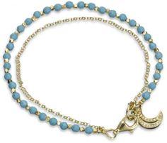Astley Clarke Moon Charm Bracelet in Blue