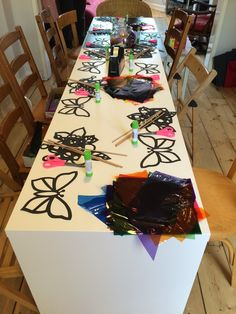 Ten girls, two craft activities, one birthday party.