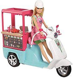 e Barbie - Scooter Bistrot Mattel Barbie, Barbie Doll Set, Doll Clothes Barbie, Barbie Doll House, Barbie Cars, Barbie Style, Barbie Dream, Barbie Fashionista, Barbie Furniture