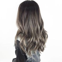 Long Wavy Ash-Brown Balayage - 20 Light Brown Hair Color Ideas for Your New Look - The Trending Hairstyle Dark Ash Brown Hair, Ash Brown Balayage, Balayage Brunette, Brown Hair Colors, Brunette Hair, Bayalage, Ash Blonde Highlights On Dark Hair, Balayage Highlights, Ombre Hair